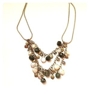 J Jill decorative pearl and gold tone necklaceNWT for sale